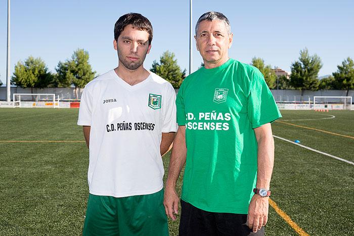 Adrián Sipán (2º Entrenador)a la izquierda y Juan Carlos Garde (Entrenador) a la derecha