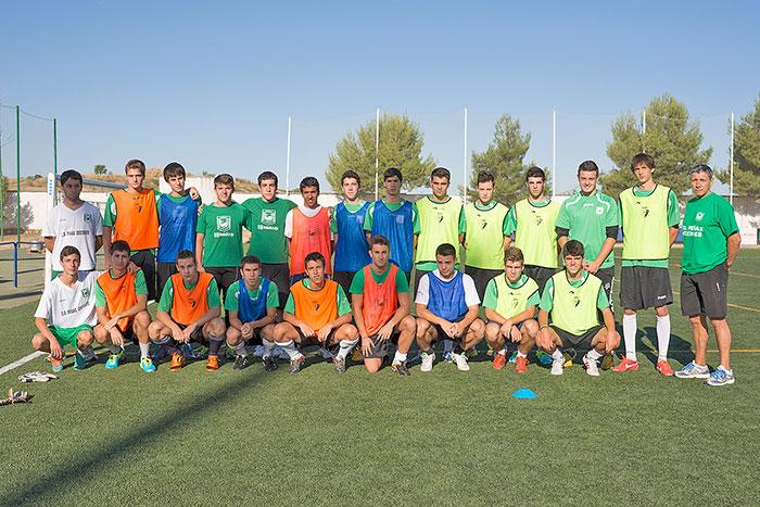 Foto de Familia de los integrantes de la plantilla Juvenil Liga Nacional