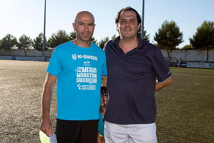 José Luis Arenas (Preparador Físico) y Raúl Ferrer (Entrenador)