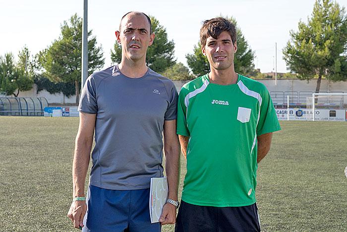 Sergio Gros y Josema Escartín, entrenador y ayudante.