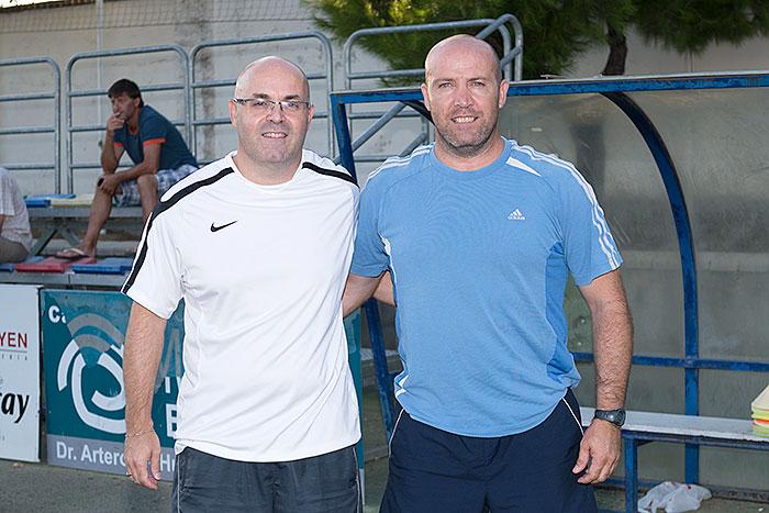 Vicente Ibor y Roberto Fandos, ayudante y entrenador
