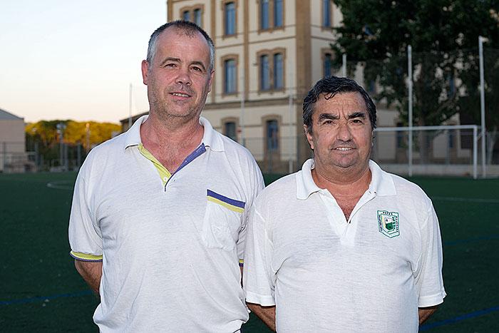 Mariano Lacasa y Antonio Más, entrenador y ayudante.